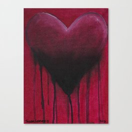 Red Heart Canvas Print