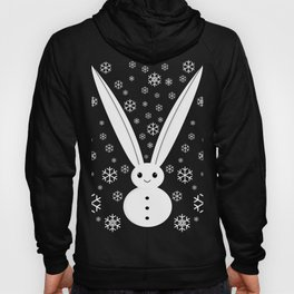 Snow bunny and snowflakes red Hoody