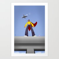 I can fly ... but I'm afraid of heights Art Print
