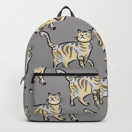 cat (grey) Backpack