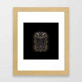 Samurai mask Framed Art Print