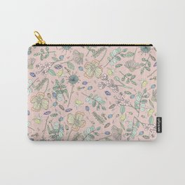Country Flowers - Pink Rose Carry-All Pouch