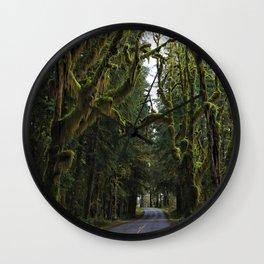 Hoh, Rainforest Drive Wall Clock