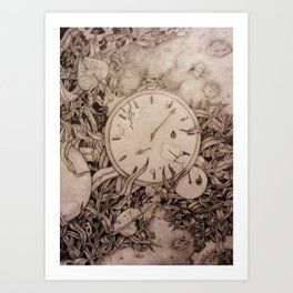 Clock's Slay Time  Art Print