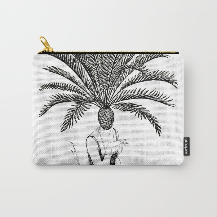 Palm Tree Head Carry-All Pouch