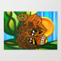 jojo Canvas Prints featuring Congo JoJo by BohemianBound