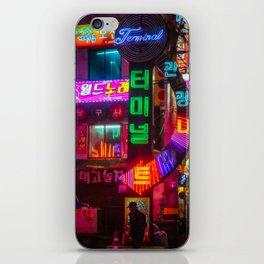 Older Neon Lights iPhone Skin
