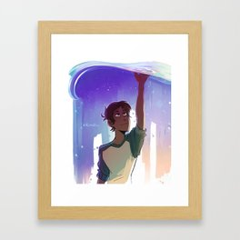 A Blue Boi Framed Art Print