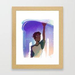 A Blue Boi Framed Art Print