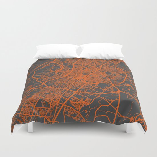 Austin map Duvet Cover