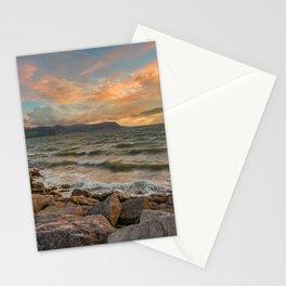 Sunset at West Shore Llandudno Stationery Cards
