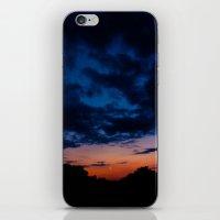 kansas iPhone & iPod Skins featuring Kansas Sunset by Alden Heck