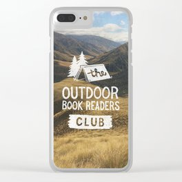 The Outdoor Book Readers Club Clear iPhone Case
