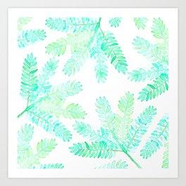 Leafy green allover pattern Art Print