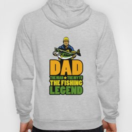 Mens Dad The Man The Myth The Fishing Legend Gift for Dads Tank Top Hoody