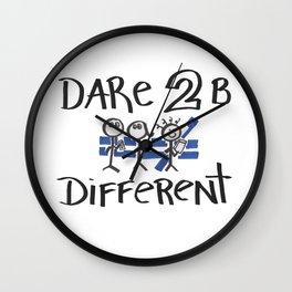 Dare 2 B Different Wall Clock