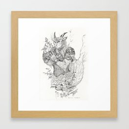 The Faun and the Dog Framed Art Print