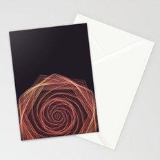 Geometric Rose Stationery Cards
