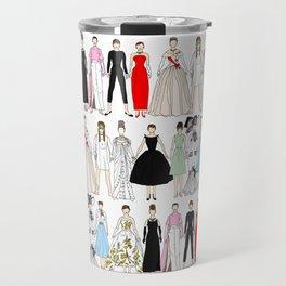 Outfits of Audrey Fashion (White) Travel Mug