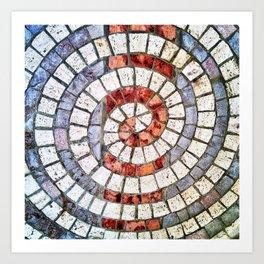 Mosaic Spiral Art Print