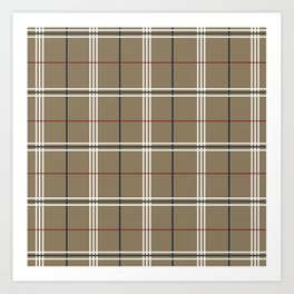 Peanut Plaid Art Print