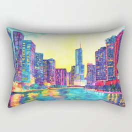 Chicago River Rectangular Pillow