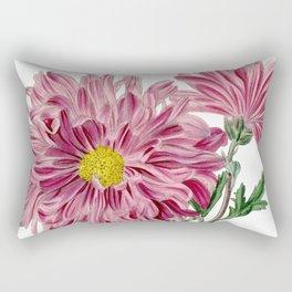 Light Purple Chrysanthemum / W. Curtis 1857 Rectangular Pillow