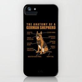German Shepherd Anatomy iPhone Case