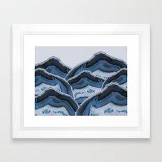 Agate Blue Mountains Framed Art Print