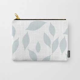 Autumn Leaves Pattern #7 #LightBlueGrey #White #foliage #decor #art #society6 Carry-All Pouch