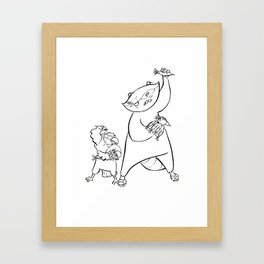Ninja Training - Darts Framed Art Print