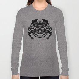 Borneo-Shirt .:sneering beast - BW Long Sleeve T-shirt