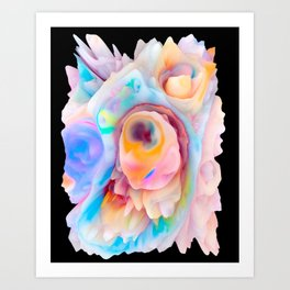 Your World 16 - Abstract 3D Milk Painting Art Print