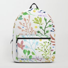 Abstract Spring Florals Backpack