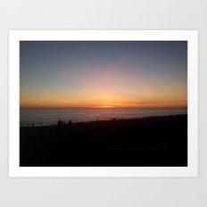Brighton Beach Sunset Art Print