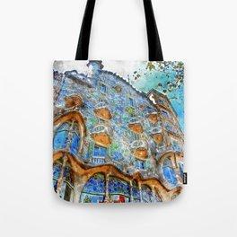 Barcelona, Casa Batllo Tote Bag