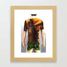 Samurai bodysuit tattoo design Framed Art Print