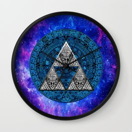 Zelda Triangle Nebula Wall Clock