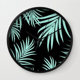 Palm Leaves Pattern Summer Vibes #6 #tropical #decor #art #society6 Wall Clock