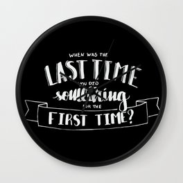 when was the last time Wall Clock
