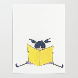 Little Girl Reading Poster