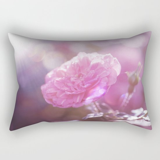 Autumn Roses at backlight  - Roses and Flowers Rectangular Pillow