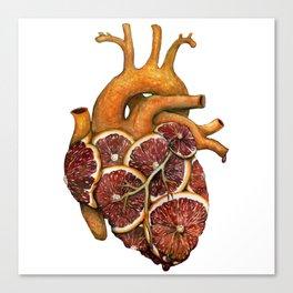 Blood Orange Heart Canvas Print