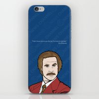 anchorman iPhone & iPod Skins featuring Ron Burgundy Anchorman  by Sheena White for Winsome Gallery