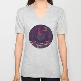 It Appeared in the Night Sky, and It Made the Wind Sharp Unisex V-Neck