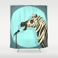 humor Shower Curtains featuring Observational Humor by David Kantrowitz