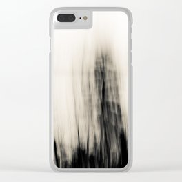 Trees By the Sea Abstract Clear iPhone Case