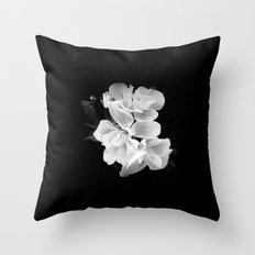 geranium in bw Throw Pillow