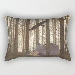 Forest Spirit Bear Rectangular Pillow