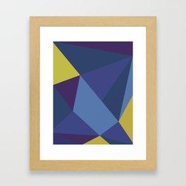 Purple Geometry Framed Art Print